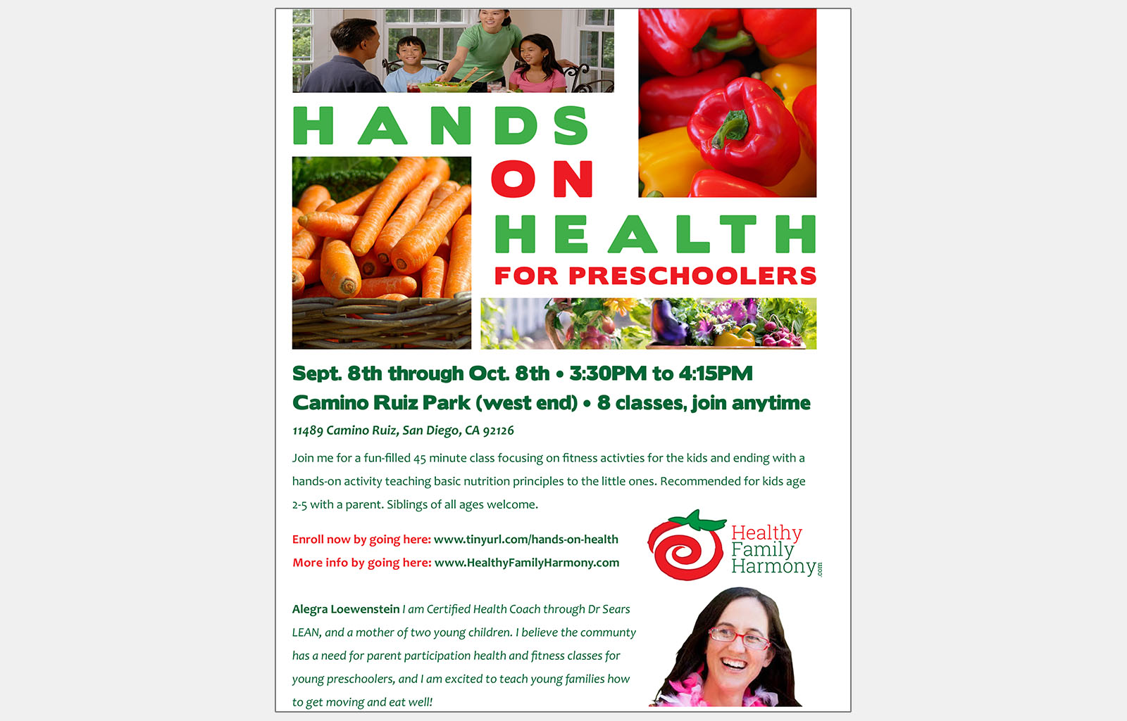 Healthy Family Harmony flyer