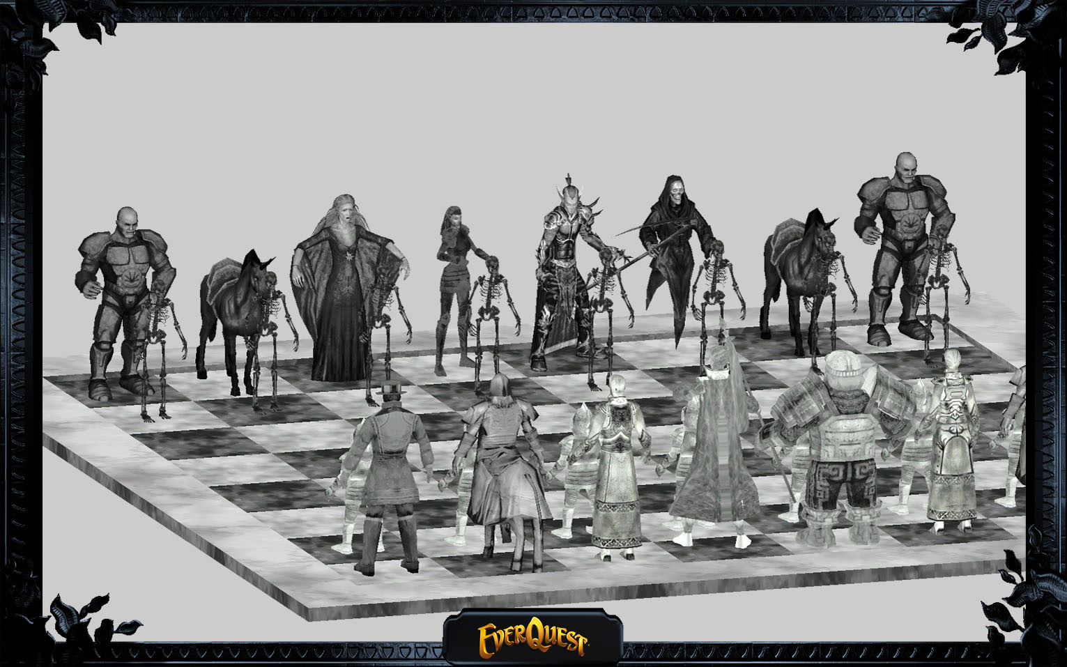 Chessboard with Everquest NPCs