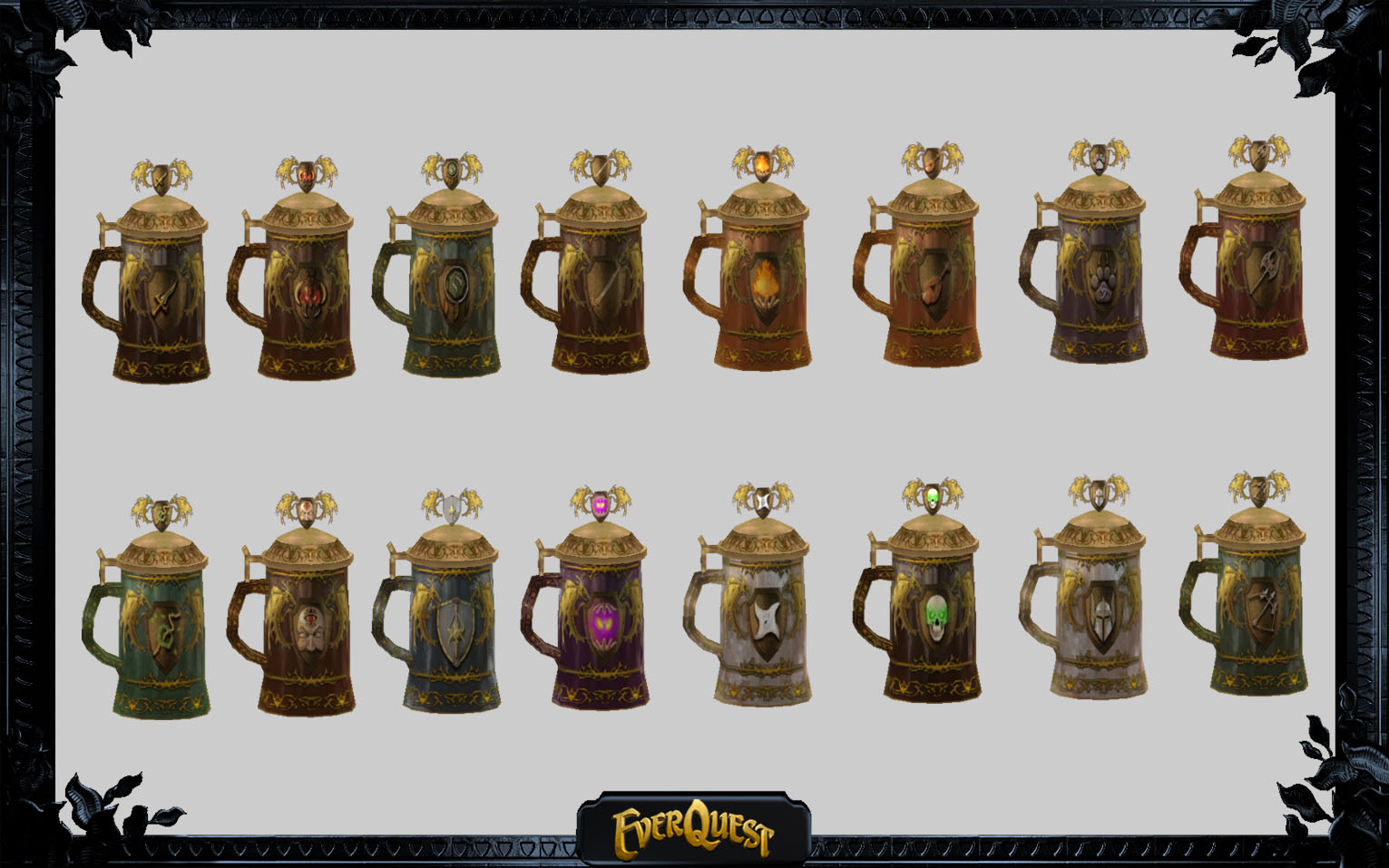 EverQuest class steins.